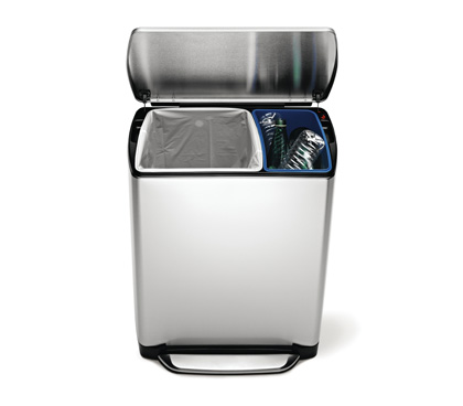 simplehuman kitchen trash cans bathroom trash bins. Black Bedroom Furniture Sets. Home Design Ideas
