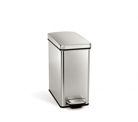 Simplehuman kitchen trash cans bathroom trash bins for Bathroom garbage can
