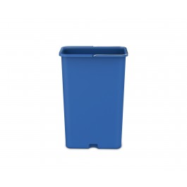Turn your 45 litre rectangular step can with liner pocket into an efficient recycler with this optional blue plastic recycling bucket.