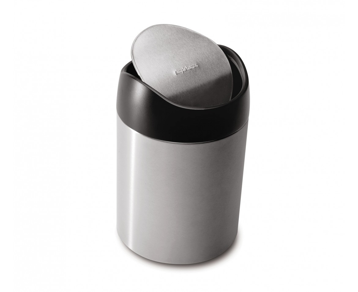 simplehuman countertop trash can small steel