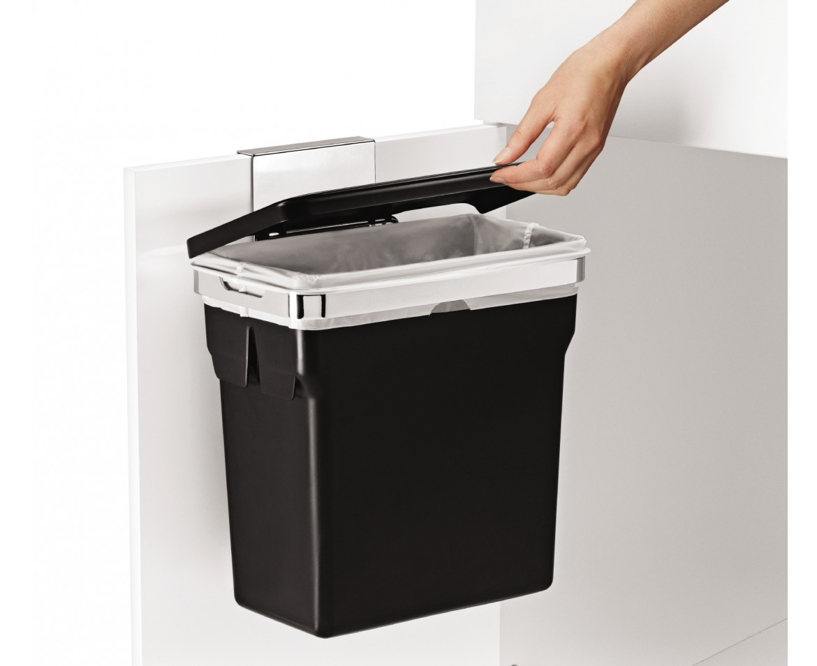simplehuman cabinet trash can door mounted. Black Bedroom Furniture Sets. Home Design Ideas
