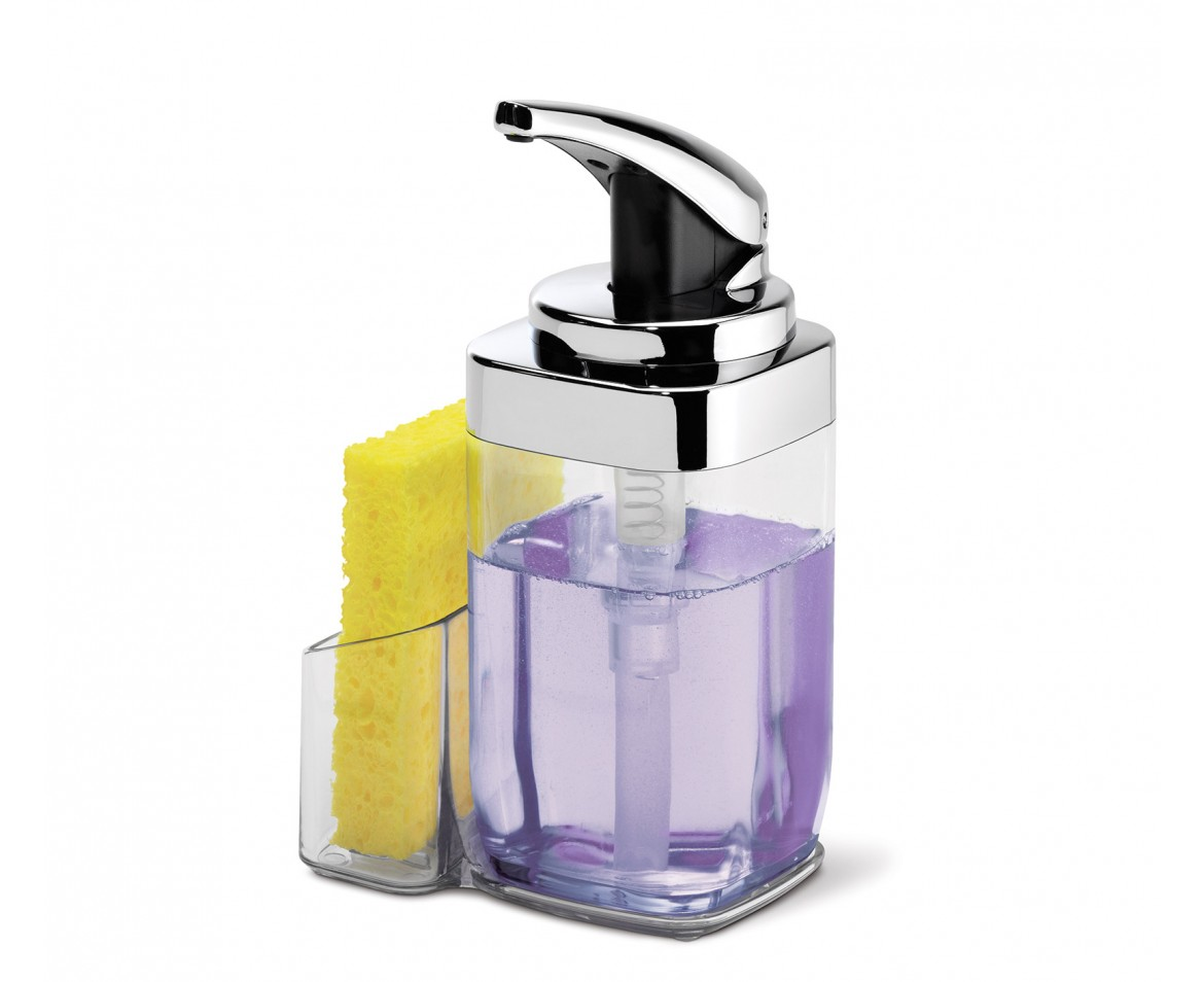 Simplehuman Square Soap Dispenser With Caddy