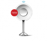 sensor mirror pro, 8 inch round, 5x + 10x magnification, adjustable color temperature, wifi-enabled