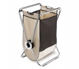 single, x-frame laundry hamper, chrome steel