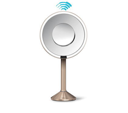 "sensor mirror pro 8"" round, rose gold steel"
