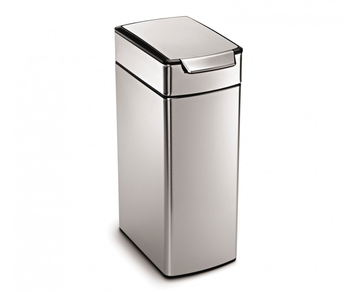Simplehuman 40 litre slim touch bar bin fingerprint proof stainless steel - Slim garbage cans for kitchen ...