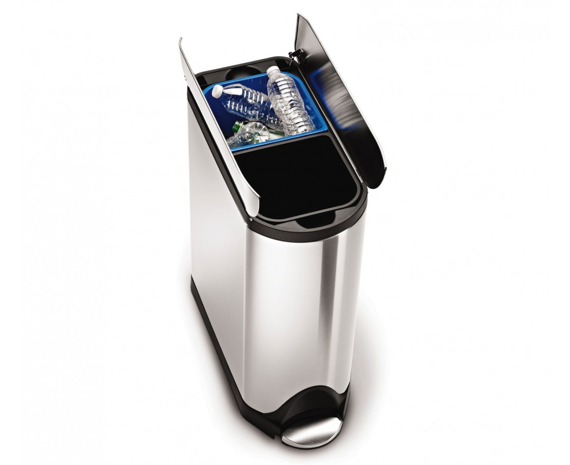 simplehuman | 40 litre butterfly recycler - brushed ...