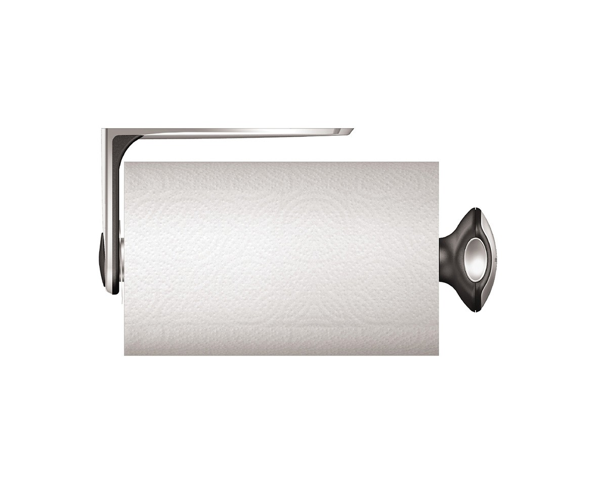 Simplehuman wall mount stainless steel kitchen roll holder for Devidoir essuie tout mural