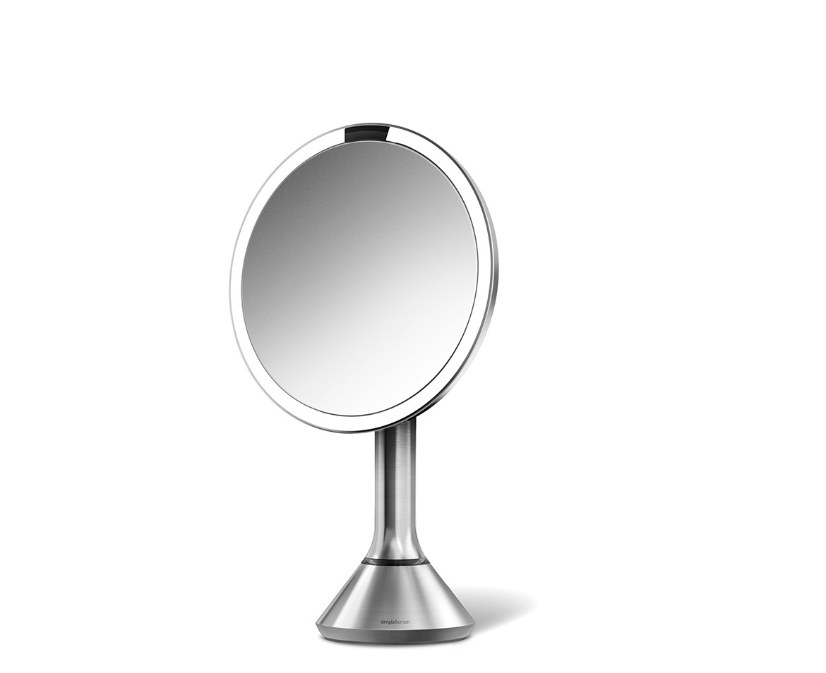 simplehuman lighted makeup vanity mirror. Black Bedroom Furniture Sets. Home Design Ideas