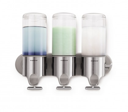 triple wall mount soap pump