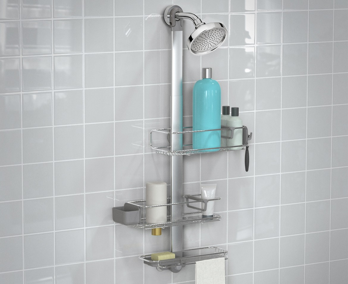 Simplehuman Adjustable Shower Caddy Stainless Steel