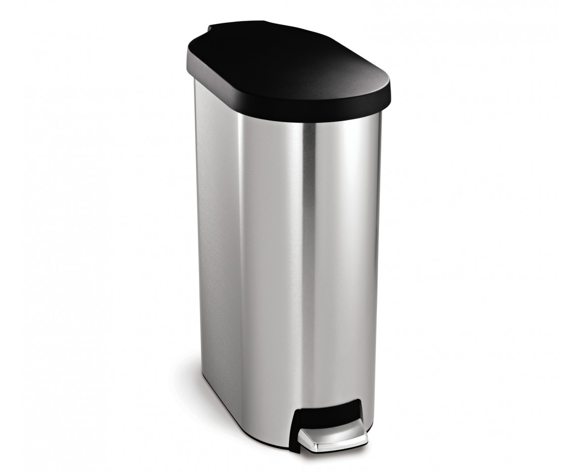 Simplehuman 45l Slim Stainless Steel Step Trash Can