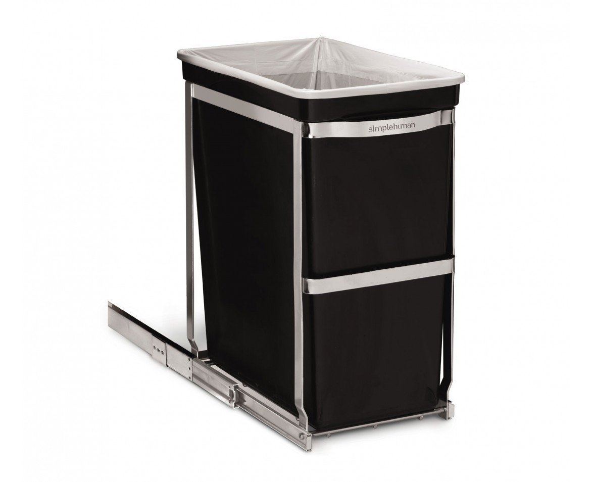 simplehuman pull out trash can 30l. Black Bedroom Furniture Sets. Home Design Ideas