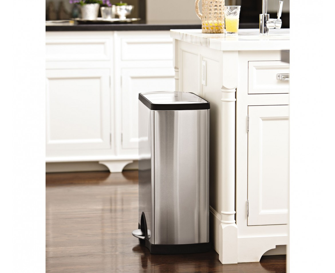 Simplehuman 50l Rectangular Stainless Steel Step Trash Can