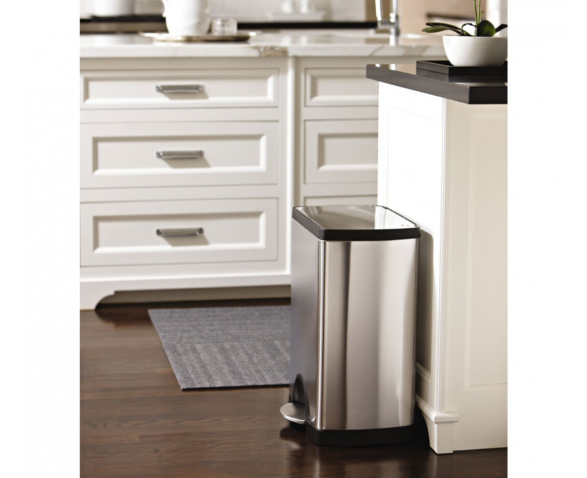 simplehuman 30 litre rectangular pedal bin fingerprint. Black Bedroom Furniture Sets. Home Design Ideas