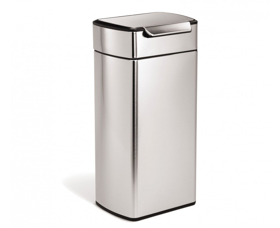 simplehuman 30 litre rectangular touch bar bin fingerprint proof stainless steel. Black Bedroom Furniture Sets. Home Design Ideas