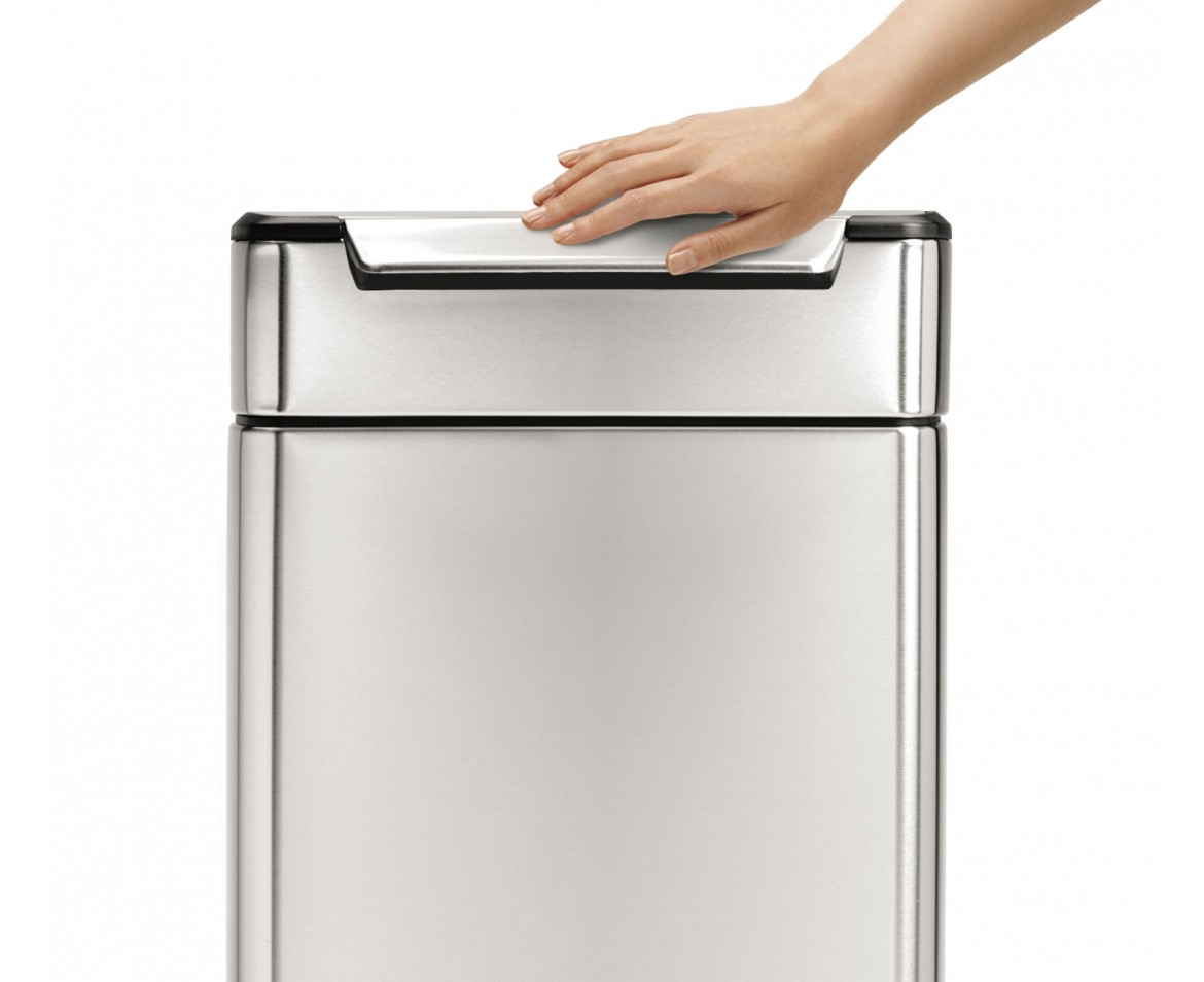Simplehuman | 40 Litre, Rectangular Touch Bar Bin, Fingerprint Proof  Stainless Steel