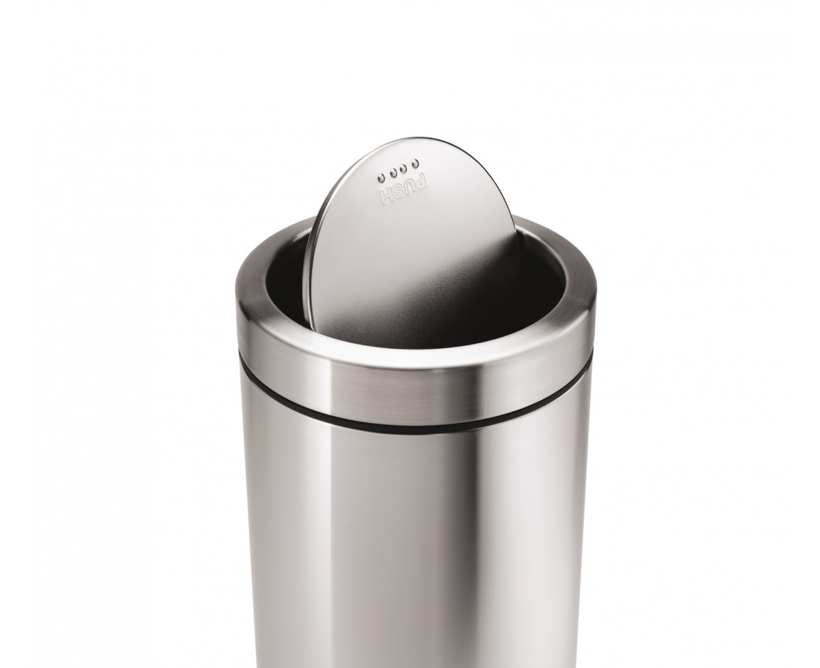 simplehuman | 55 litre, swing top bin, brushed stainless steel