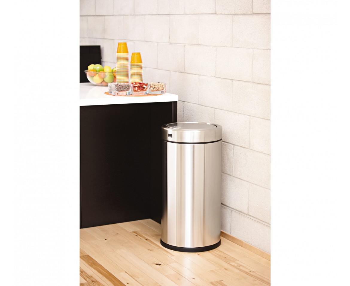 Simplehuman 55 Litre Swing Top Bin Brushed Stainless Steel