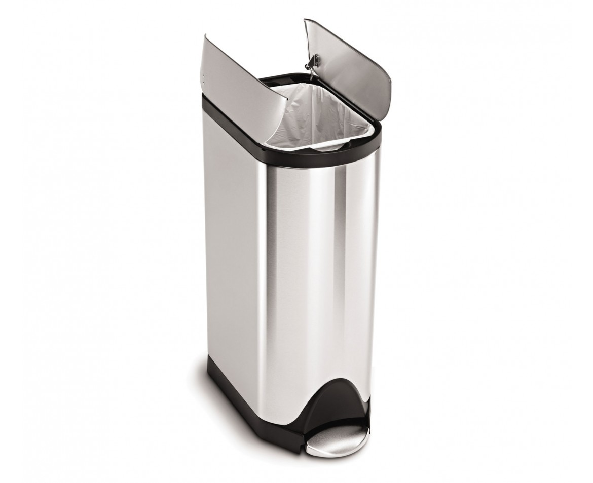 simplehuman | 30 litre, butterfly pedal bin, fingerprint-proof