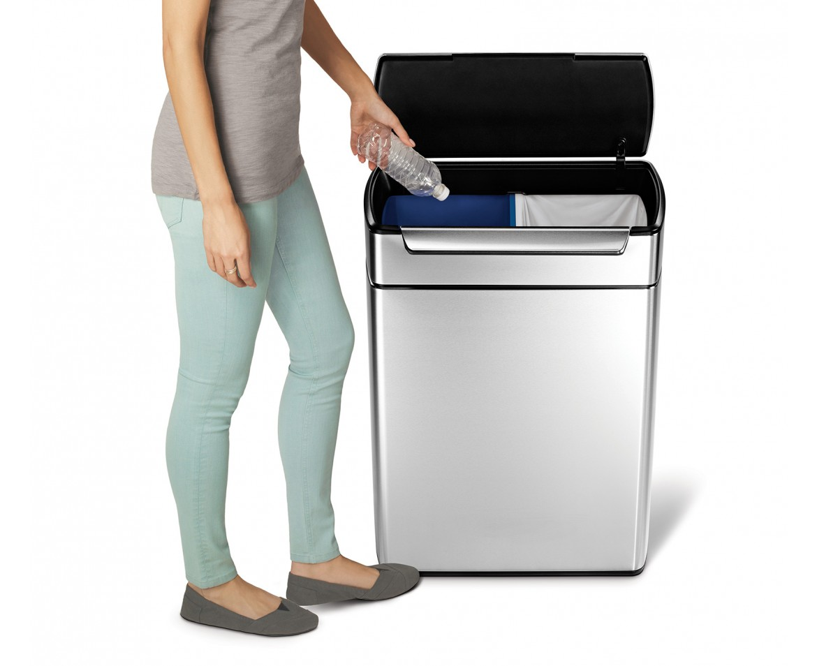 simplehuman 48 litre touch bar recycler brushed. Black Bedroom Furniture Sets. Home Design Ideas