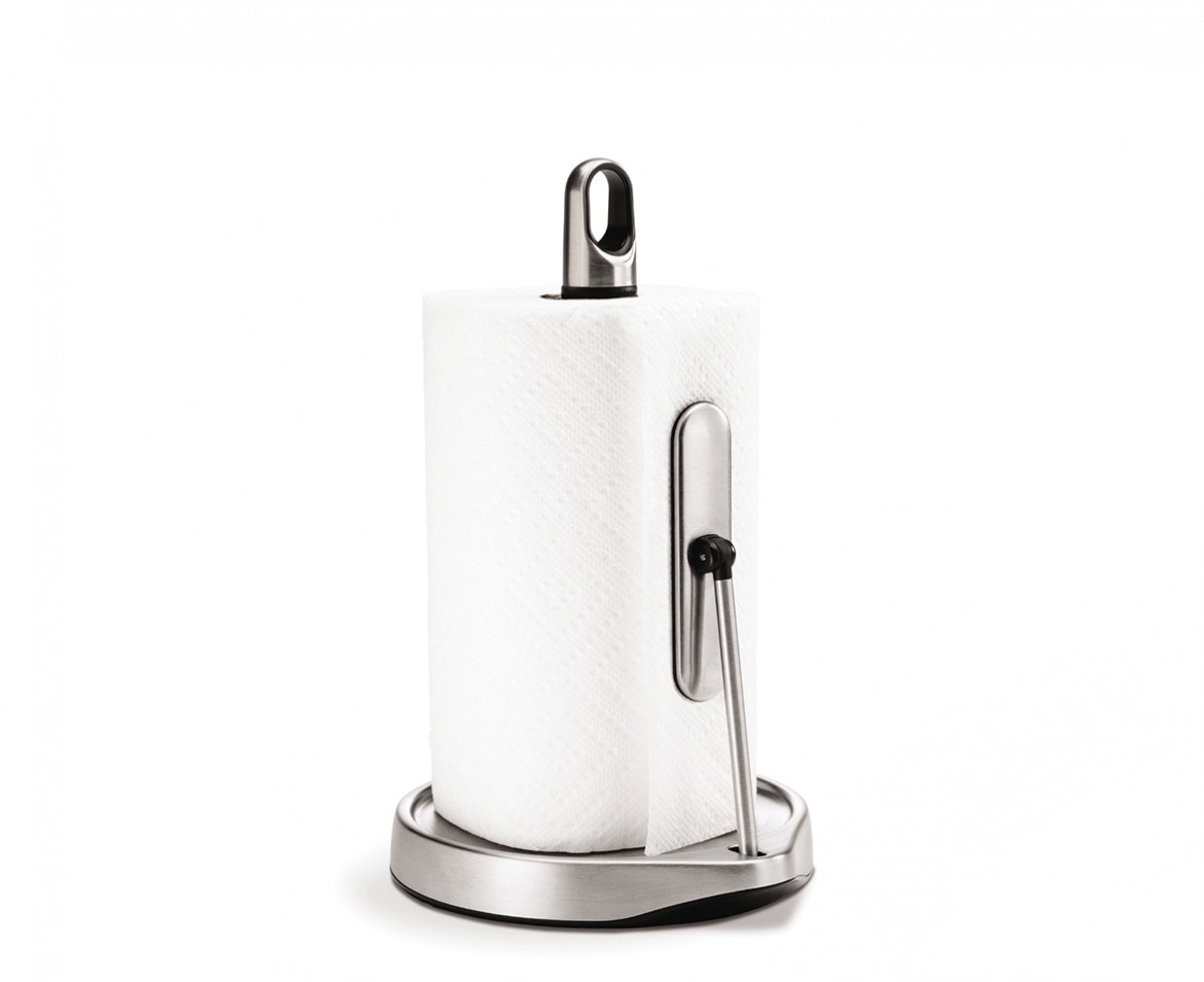 White Kitchen Roll Holder simplehuman | tension arm kitchen roll holder | stainless steel