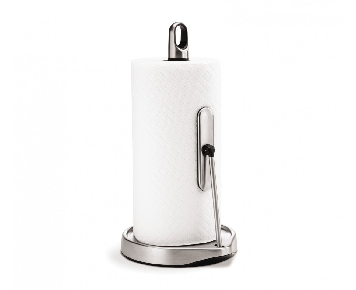 Simplehuman Tall Tension Arm Kitchen Roll Holder Stainless Steel - Kitchen paper towel dispenser
