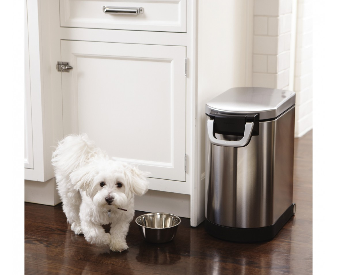 Simplehuman Medium Pet Food Bin Fingerprint Proof