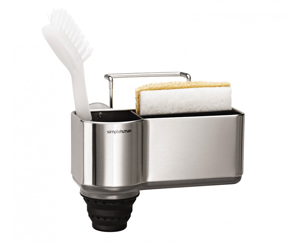 simplehuman | sink caddy, brushed stainless steel