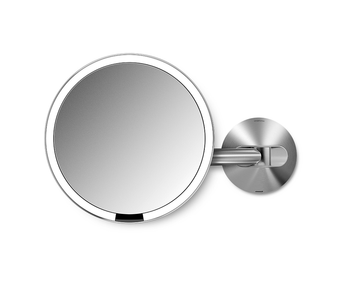 Bathroom Mirror Magnifying simplehuman | 20cm wall mount sensor mirror, 5x magnification