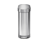 45 litre, slim pedal bin with liner rim, stainless steel