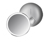 10cm sensor mirror compact, brushed stainless steel
