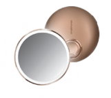 10cm sensor mirror compact, rose gold stainless steel