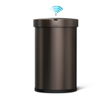 45 litre semi-round sensor bin, with liner pocket dark bronze steel