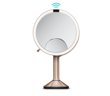 20cm sensor mirror trio brushed stainless steel rose gold