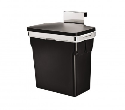 in-cabinet door-mounted trash can