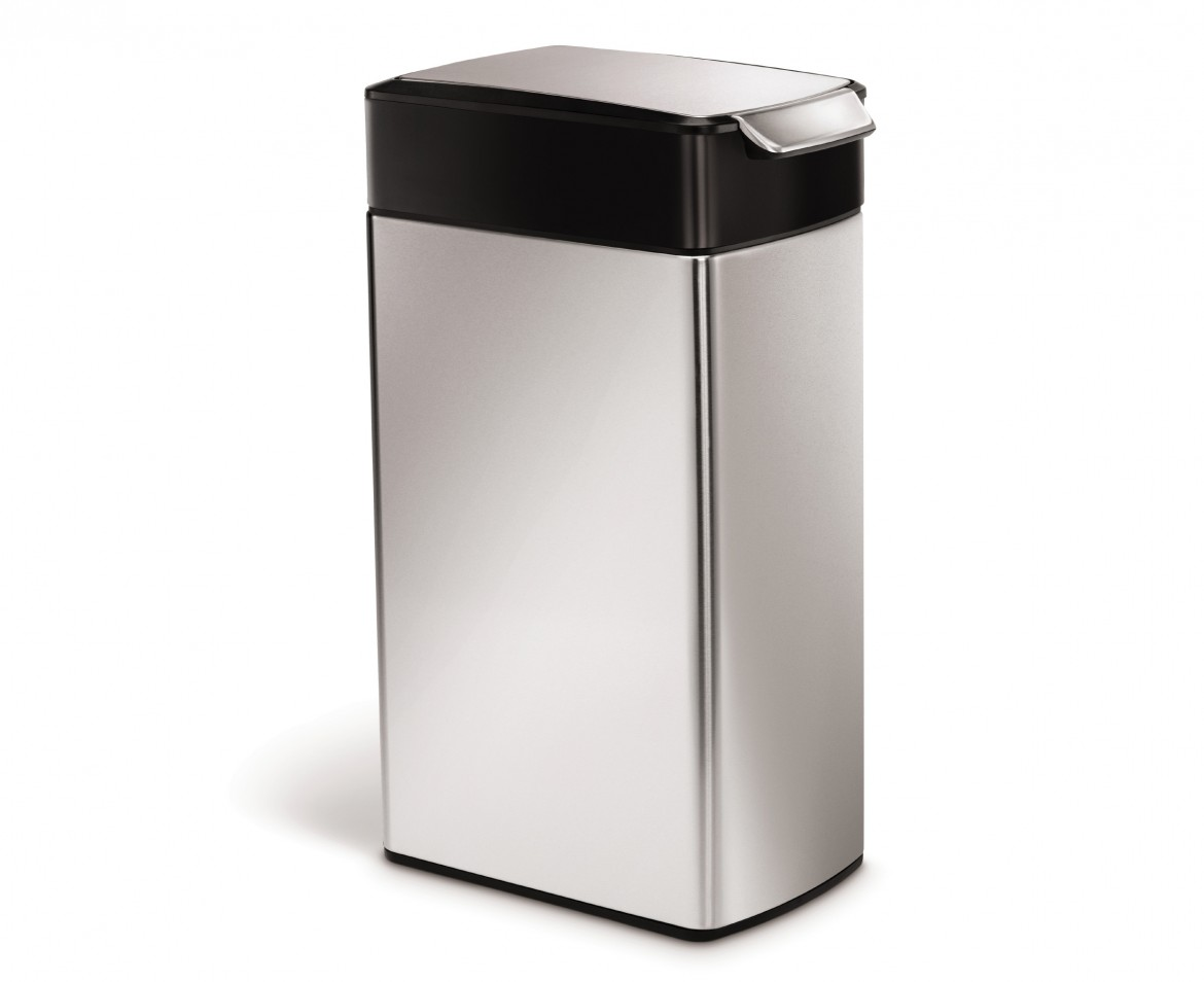 simplehuman 40 litres poubelle troite touch bar acier inoxydable bross anti traces. Black Bedroom Furniture Sets. Home Design Ideas