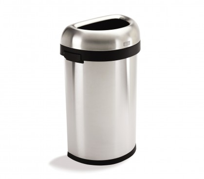 60 litre, semi-round open can