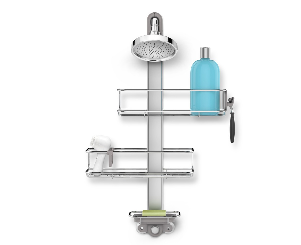 simplehuman | adjustable stainless steel shower caddy organiser