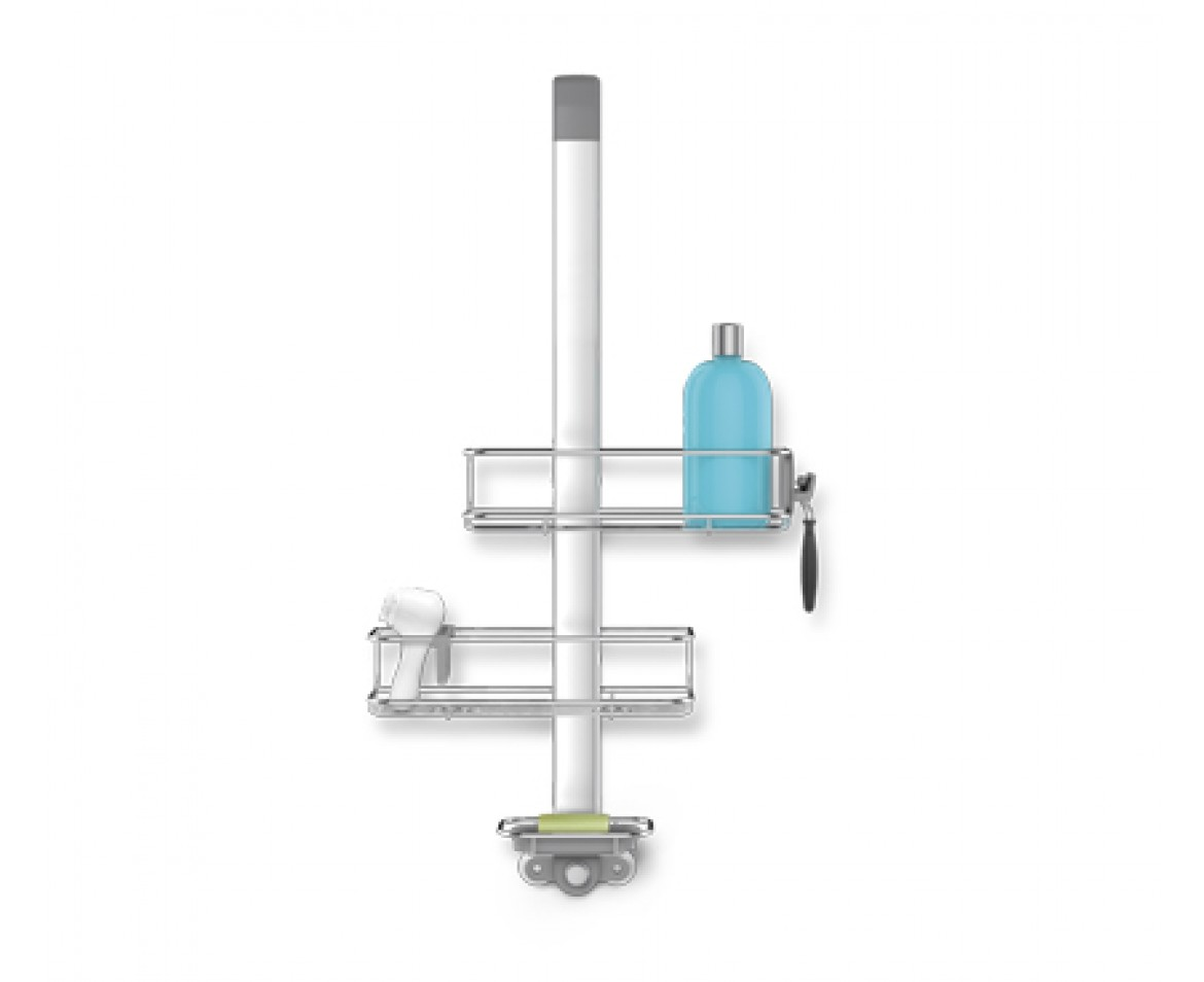 simplehuman | over door shower caddy, stainless steel + anodised ...