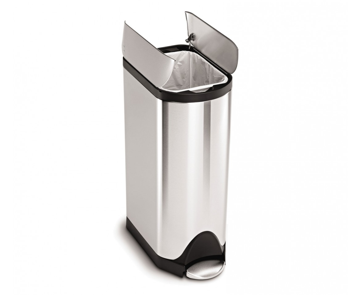 Simplehuman | 30 Litre, Butterfly Pedal Bin, Fingerprint Proof Brushed  Stainless Steel