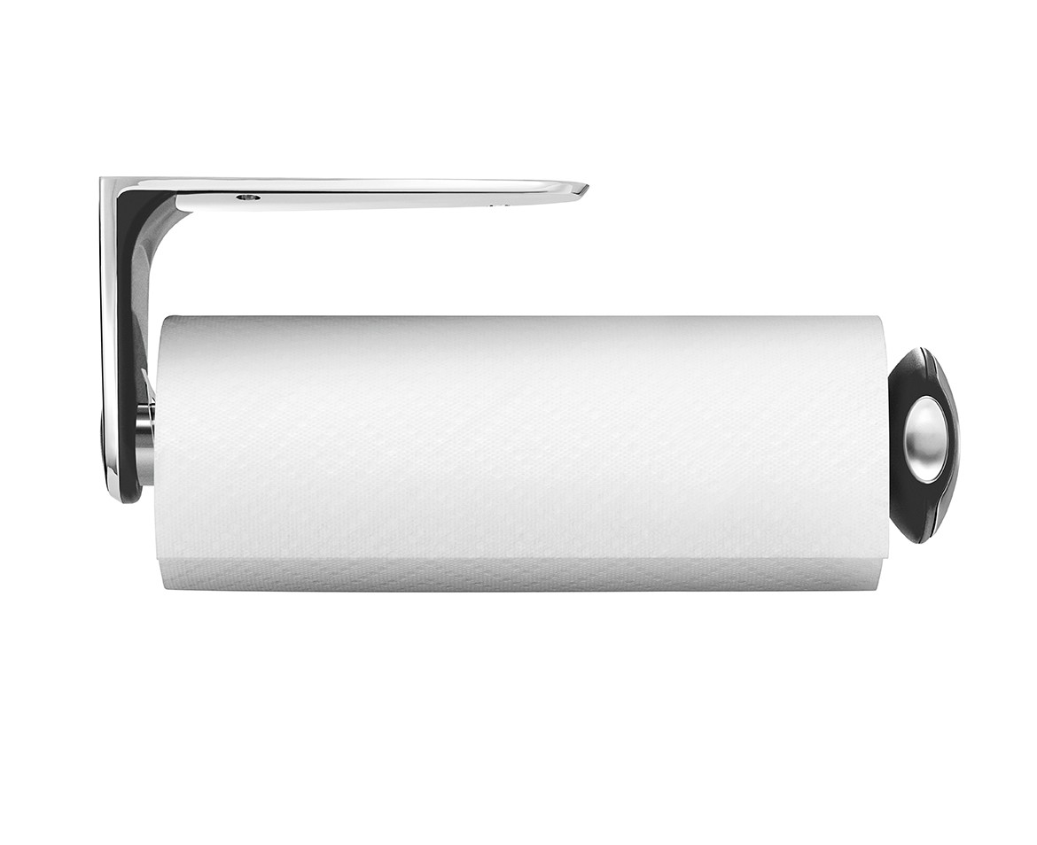 simplehuman | long wall mount kitchen roll holder, stainless steel