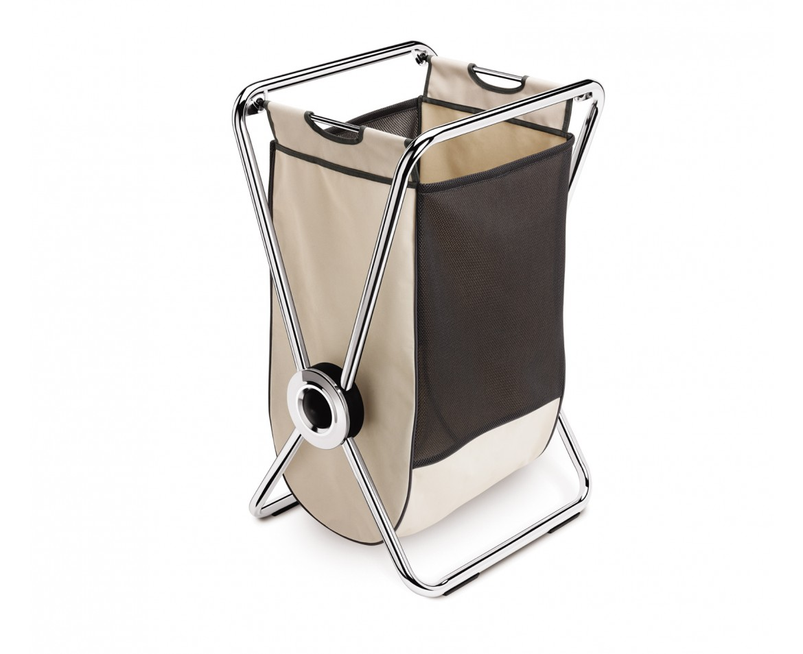 simplehuman | single, x-frame laundry hamper, chrome steel - hampers ...