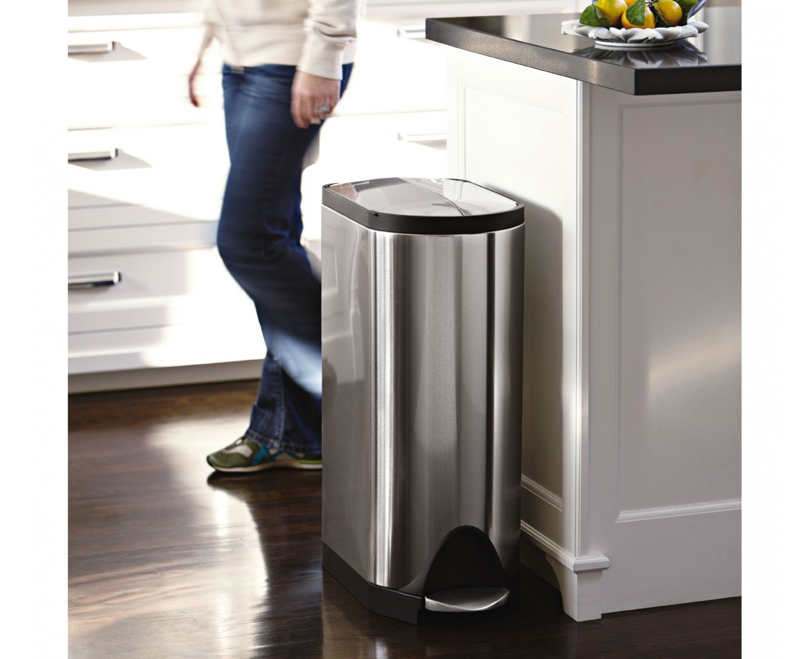 Marvelous Simplehuman | 30 Litre, Butterfly Pedal Bin, Fingerprint Proof Brushed  Stainless Steel