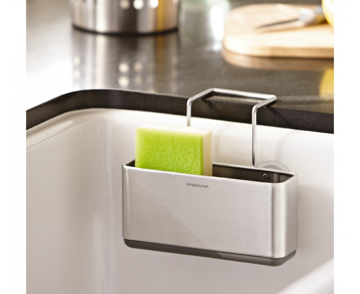 simplehuman | slim sink caddy, brushed stainless steel