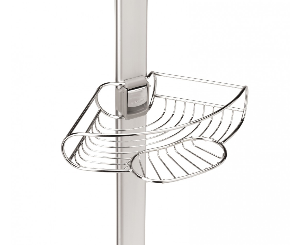 Simplehuman Tension Shower Caddy Stainless Steel Anodised Aluminium