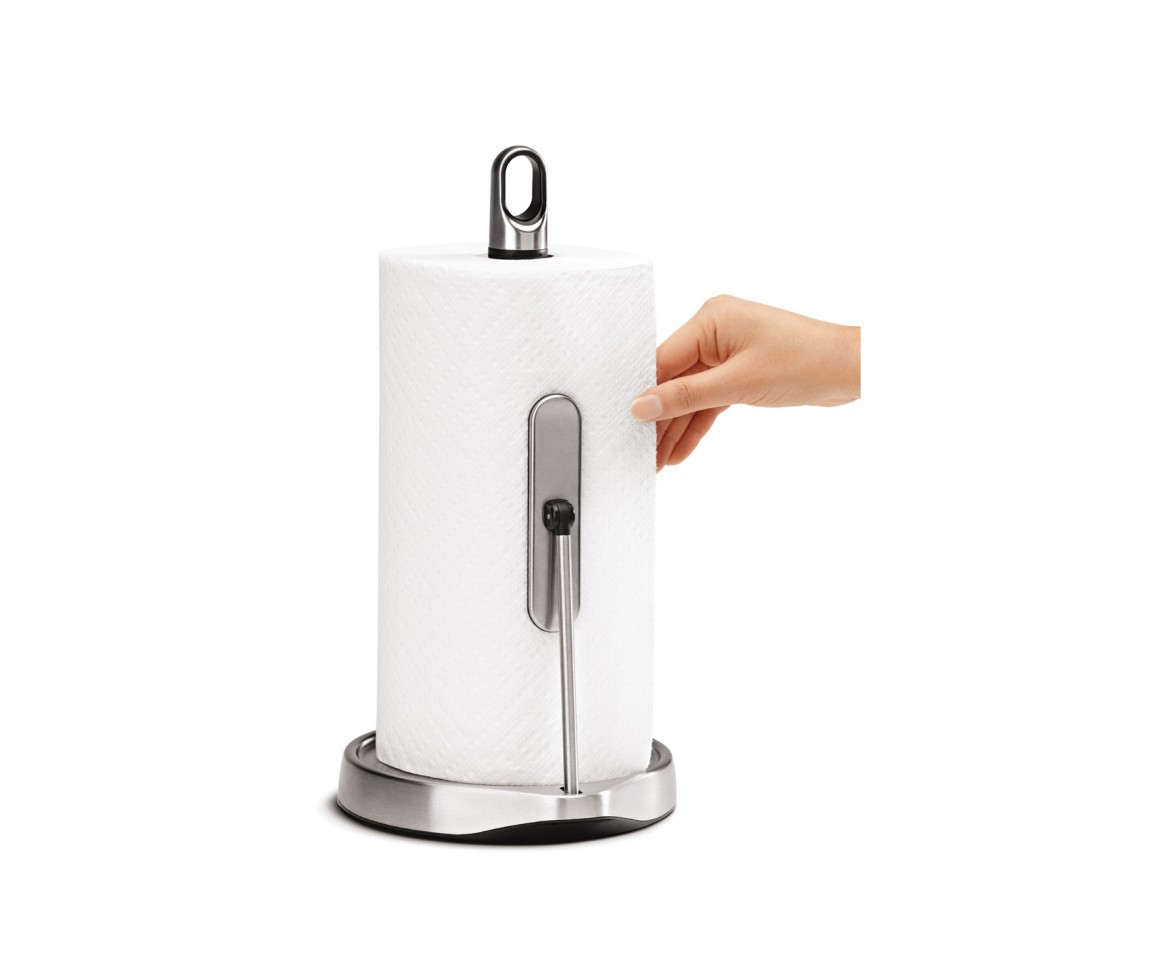 simplehuman | tension arm kitchen roll holder | stainless steel