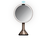 20cm sensor mirror with touch-control brightness, rose gold