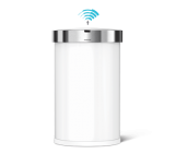 45L semi-round sensor bin, with liner pocket white steel