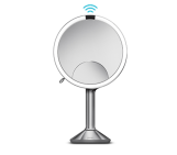 20cm sensor mirror trio brushed stainless steel